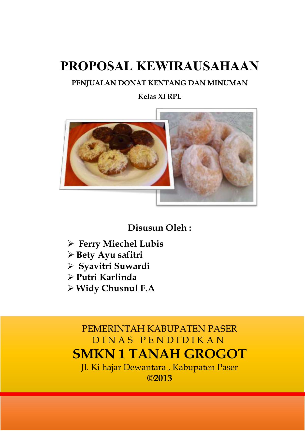Proposal Kewirausahaan Penjualan Donat