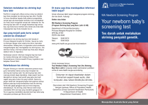 Your newborn baby`s screening test