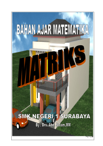 2. Invers Matriks