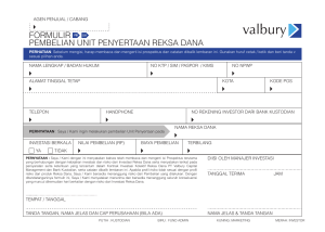 Form Pembelian - Valbury Capital Management