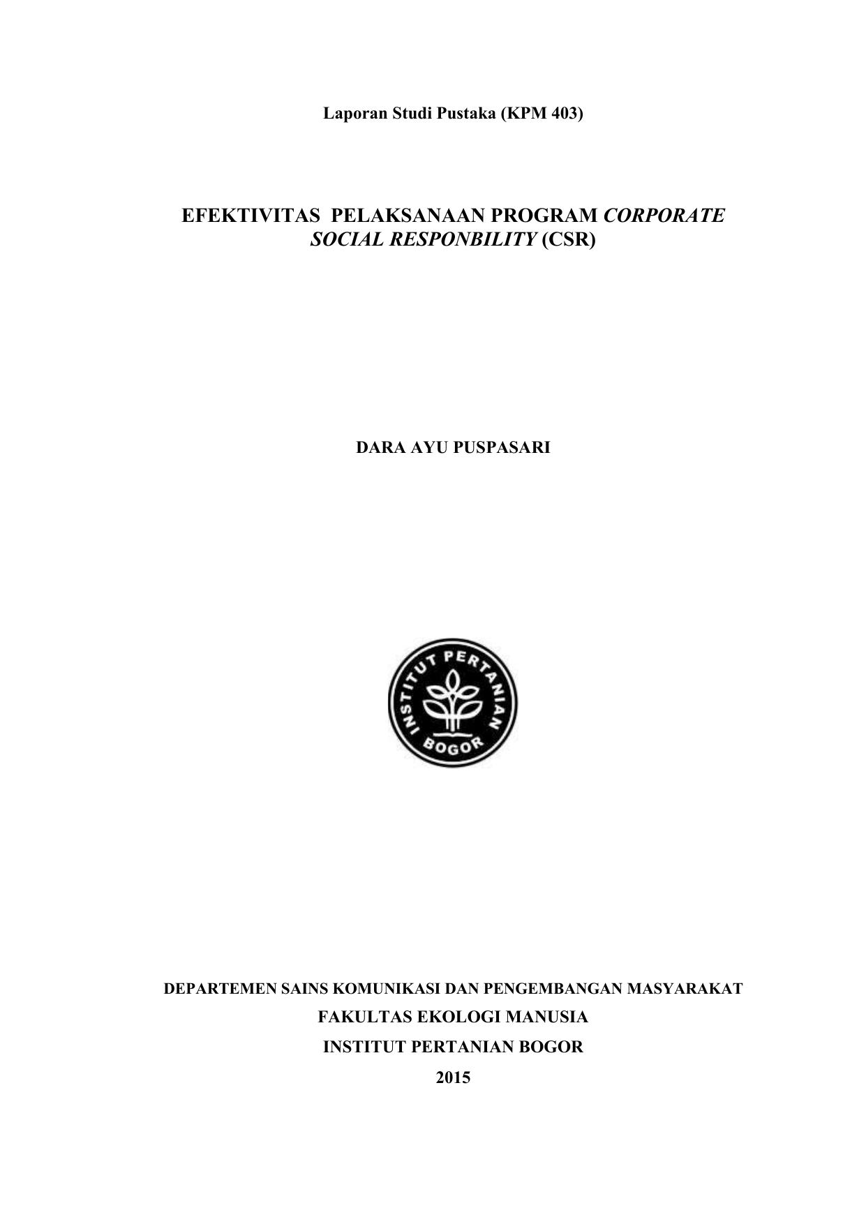 Evaluasi Program Corporate Social Responsibility Dalam Meningkatkan Citra Positif Pt Pln Persero Studi Interpretif Kualitatif Pada Sub Bidang Komunikasi Pln Unit Induk Pembangunan Jawa Bagian Tengah I Tahun 2018 Eprints Upn Veteran