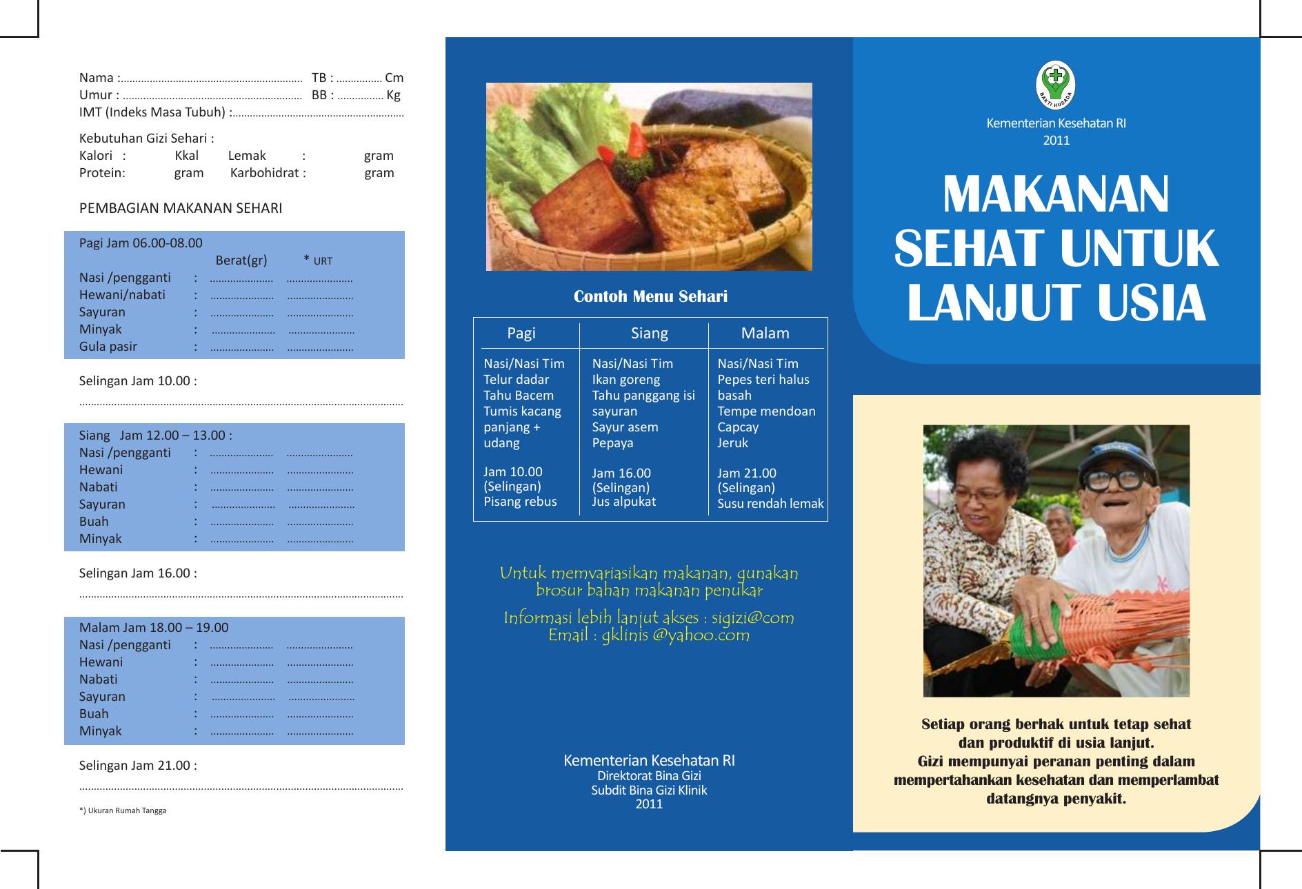 Brosur Makanan Sehat Untuk Lanjut Usia