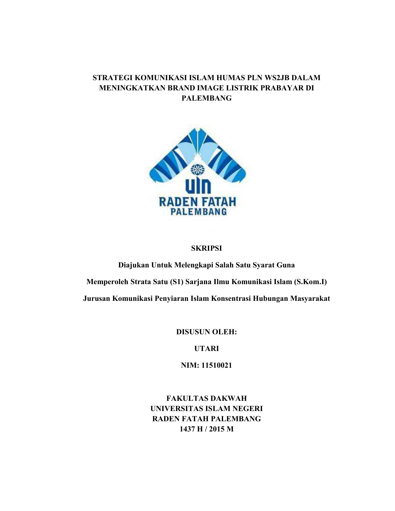 Strategi Komunikasi Islam Humas Pln Ws2jb Dalam