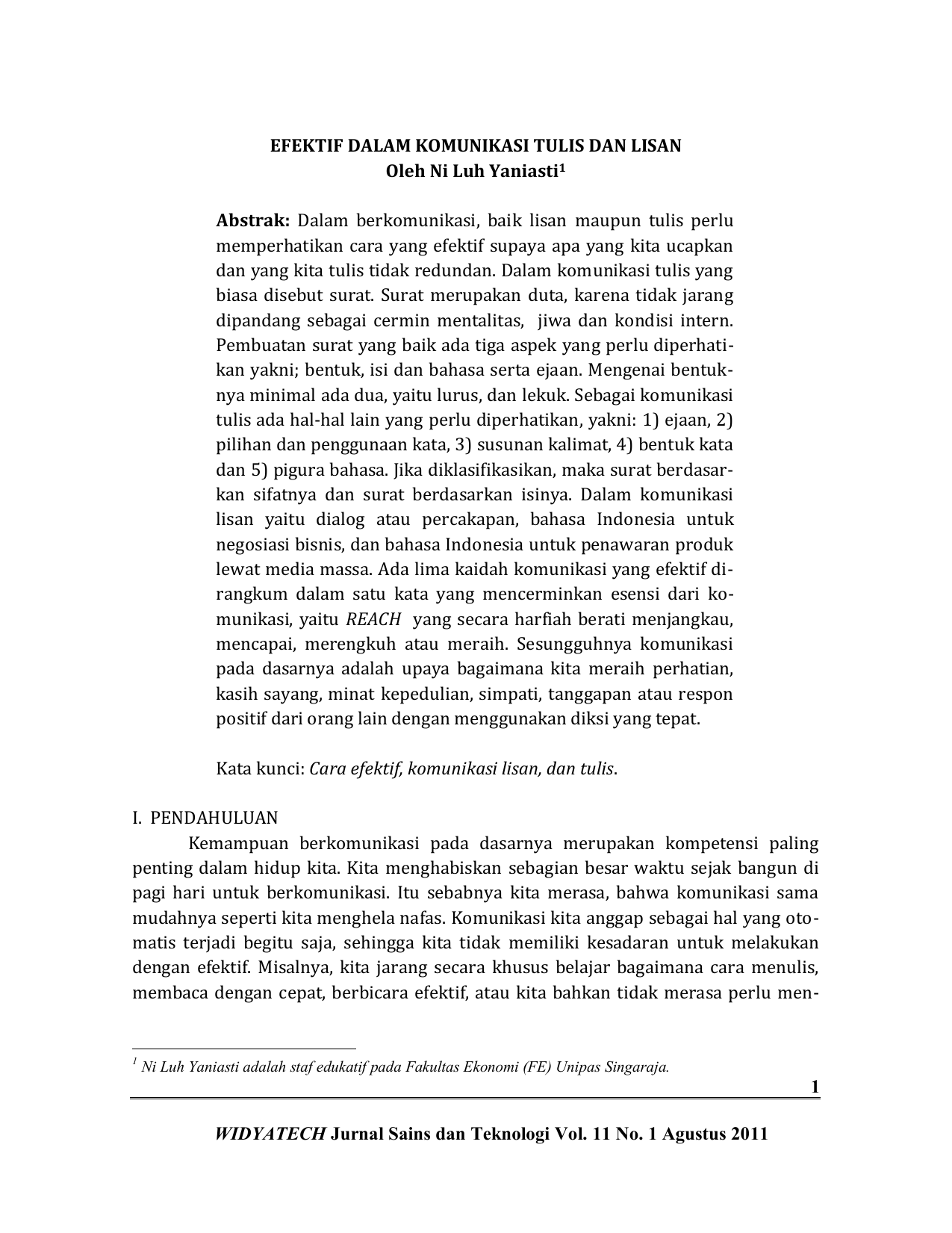 Cara Efektif Dalam Komunikasi Tulis Dan Lisan