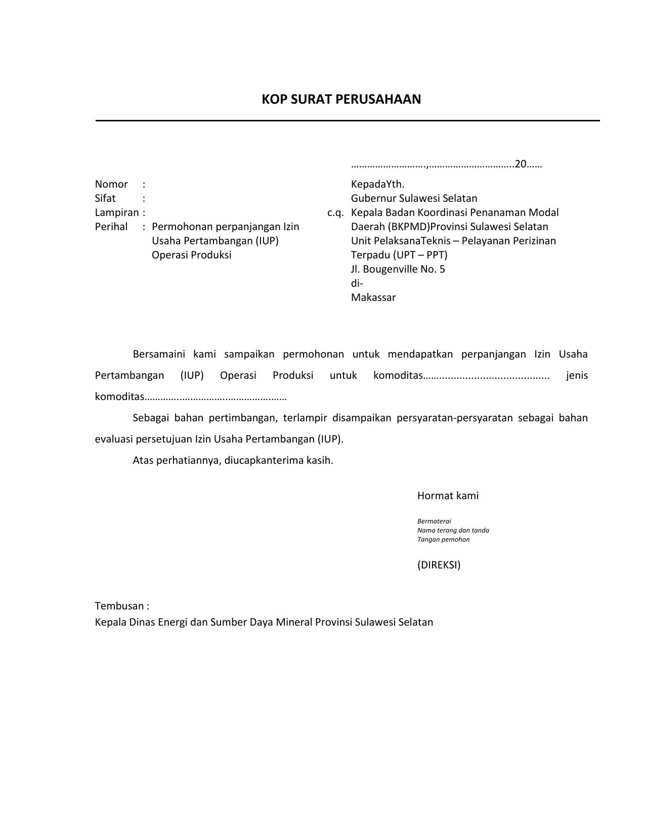 Form Permohonan Pelayanan Terpadu Satu Pintu Provinsi
