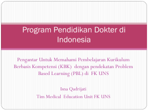 problem-based learning - Fakultas Kedokteran UNS