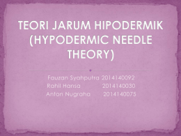 teori jarum hipodermik (hypodermic needle theory)