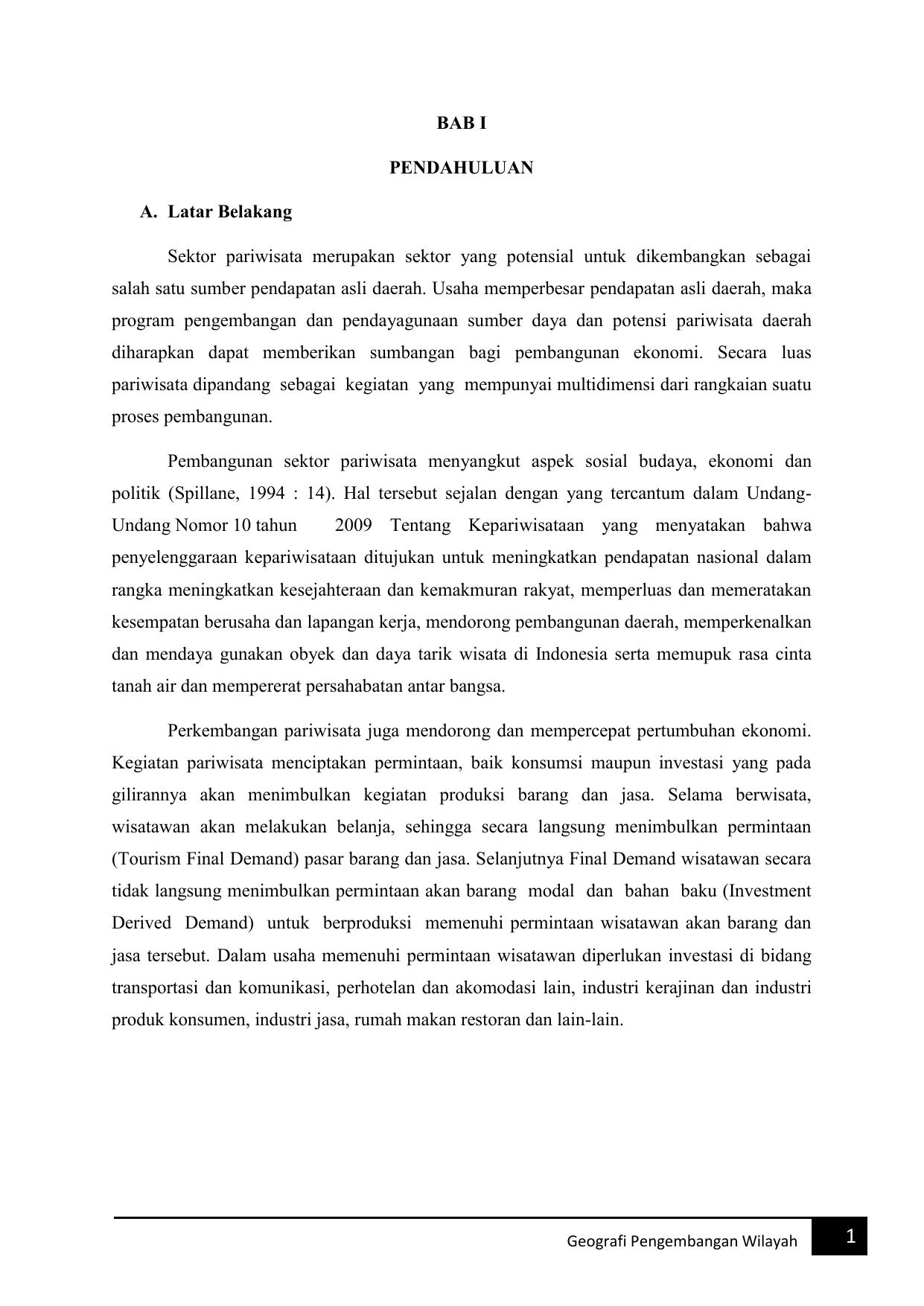 makalah pengembangan pantai watu ulo