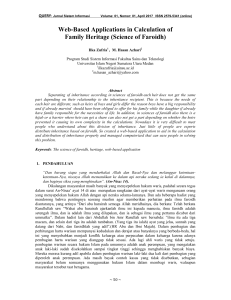 Web-Based Applications in Calculation of Family - Jurnal UIN-SU