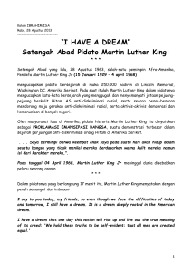 """I HAVE A DREAM"" Setengah Abad Pidato Martin Luther"