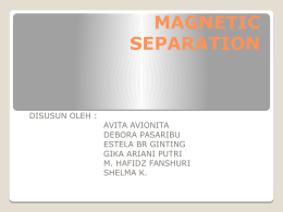 MAGNETIC SEPARATION