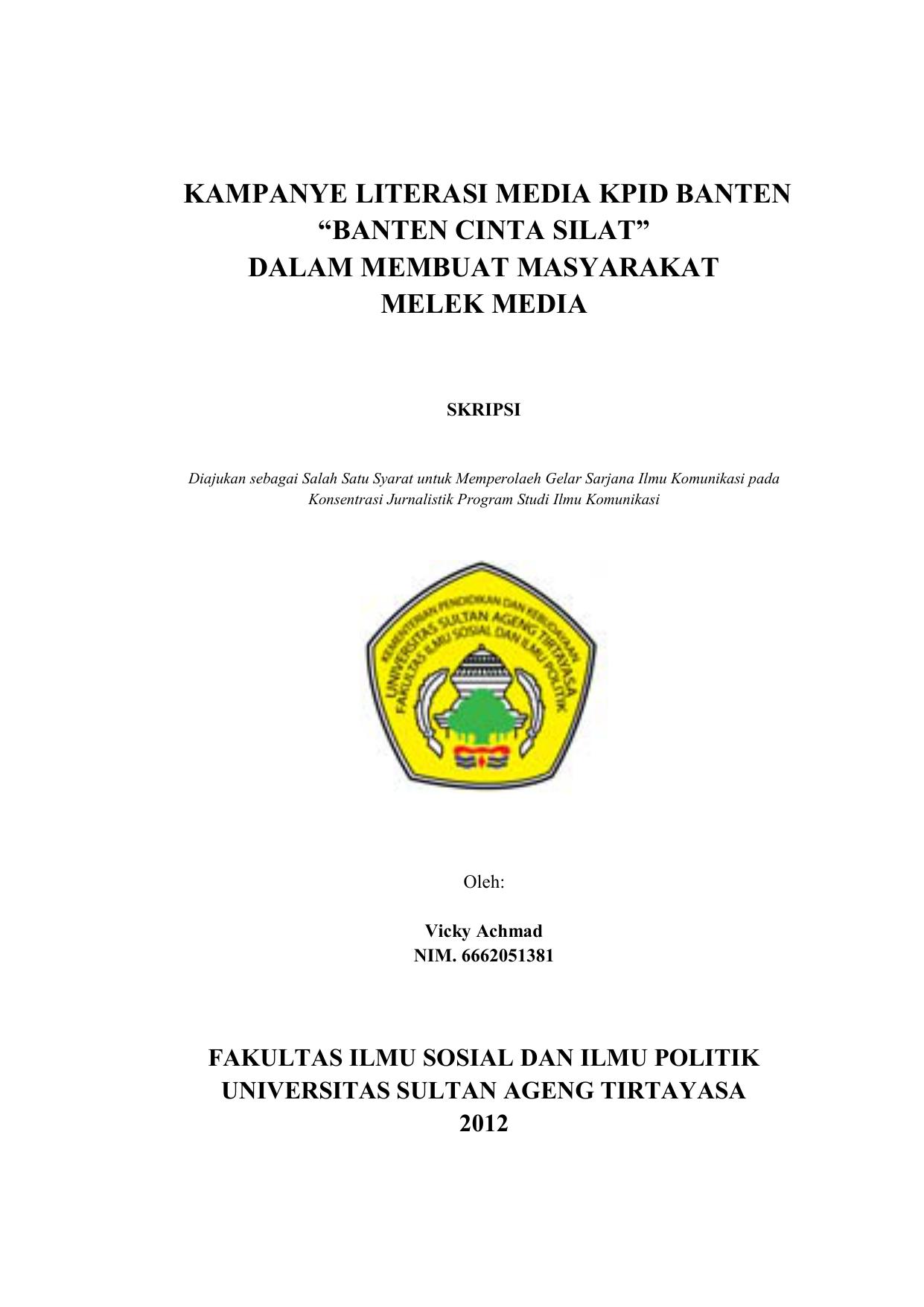 Kampanye Literasi Media Kpid Banten Banten Cinta Silat Dalam