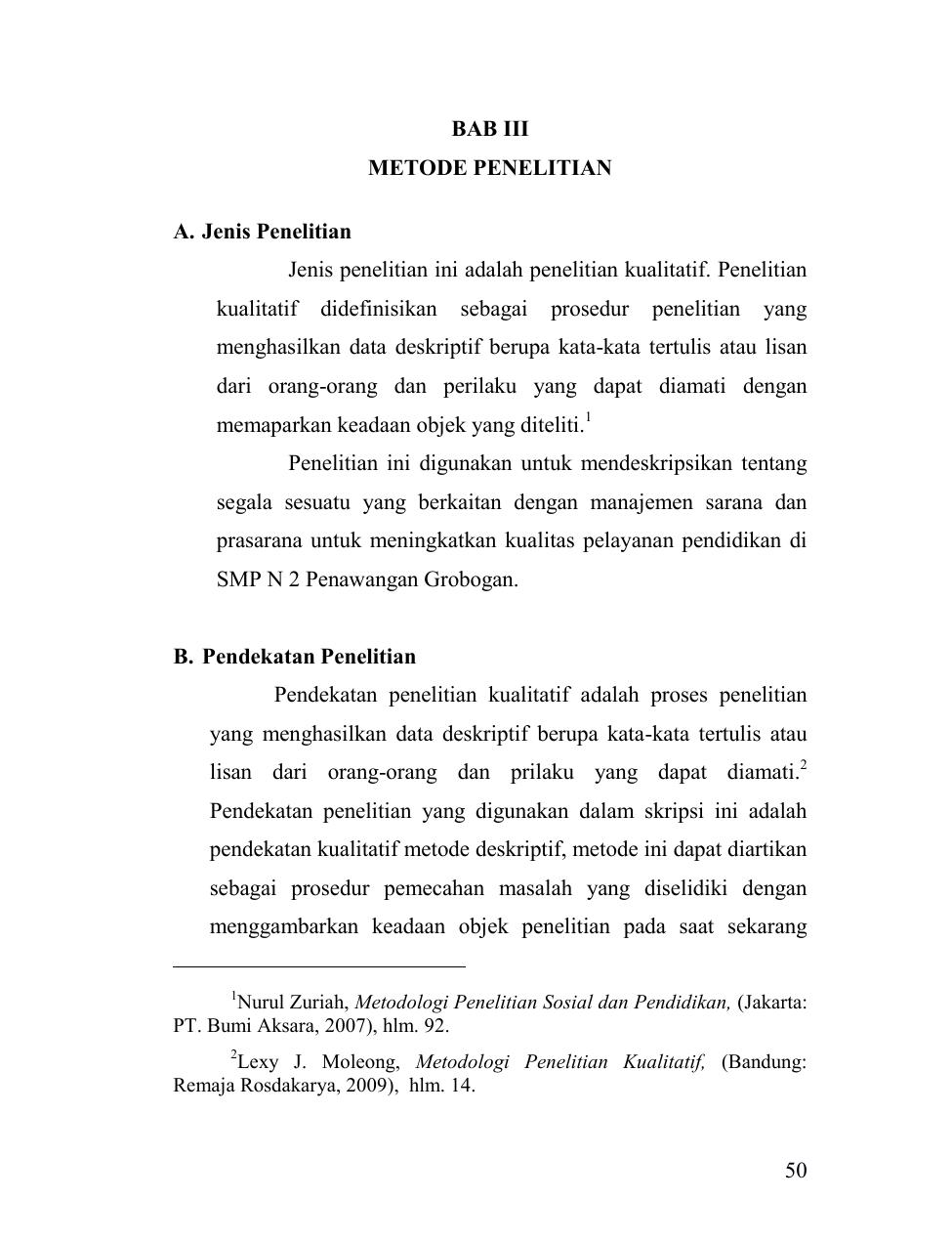 Skripsi Metode Penelitian Kualitatif Deskriptif