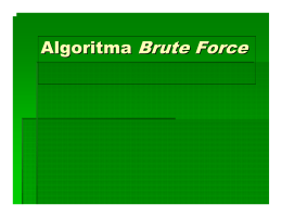 Algoritma Brute Force - Simulation Laboratory