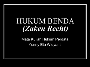 HUKUM BENDA - WordPress.com