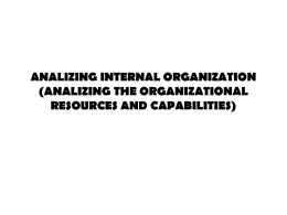 analizing the organizational resources and