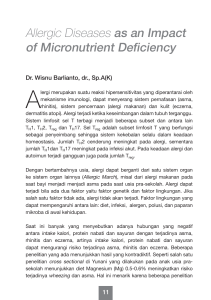 Allergic Diseases as an Impact of Micronutrient Deficiency