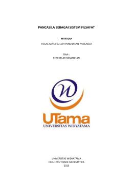 Makalah Pancasila Universitas Widyatama