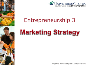 Entrepreneurship 3 - Universitas Ciputra