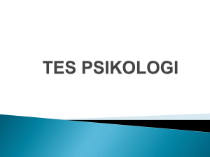 Tes Psikologi - WordPress.com