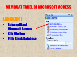 program aplikasi berbasis data microsoft acces