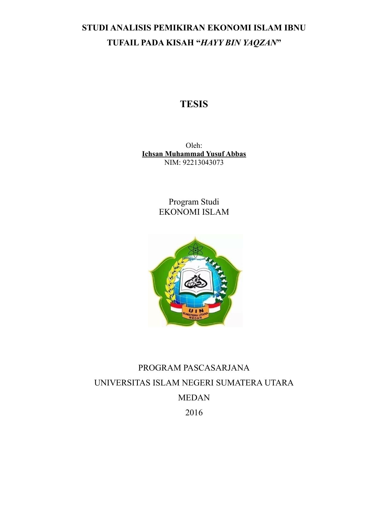 HAYY BIN YAQZAN Repository UIN Sumatera Utara