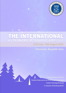 The International Astronomical Youth Camp 2011