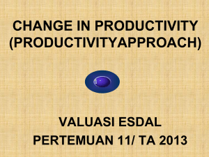 change in productivity method (production function)