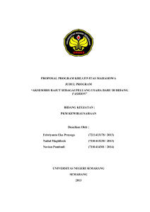 PROPOSAL PROGRAM KREATIVITAS MAHASISWA JUDUL