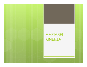 VARIABEL KINERJA