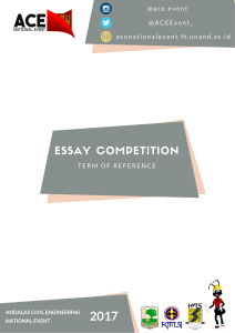 essay competition - ACE National Event