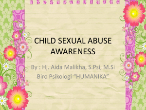 child sexual abuse awareness