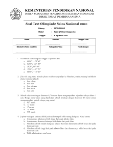 Soal Multiple Choice OSN 2010