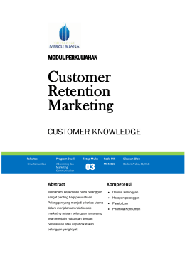 Modul Customer Retention Marketing [TM3]