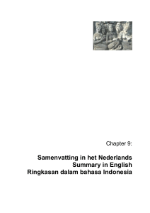 Samenvatting in het Nederlands Summary in English Ringkasan