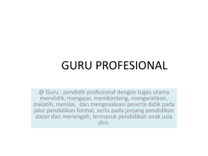 materi workshop guru profesional