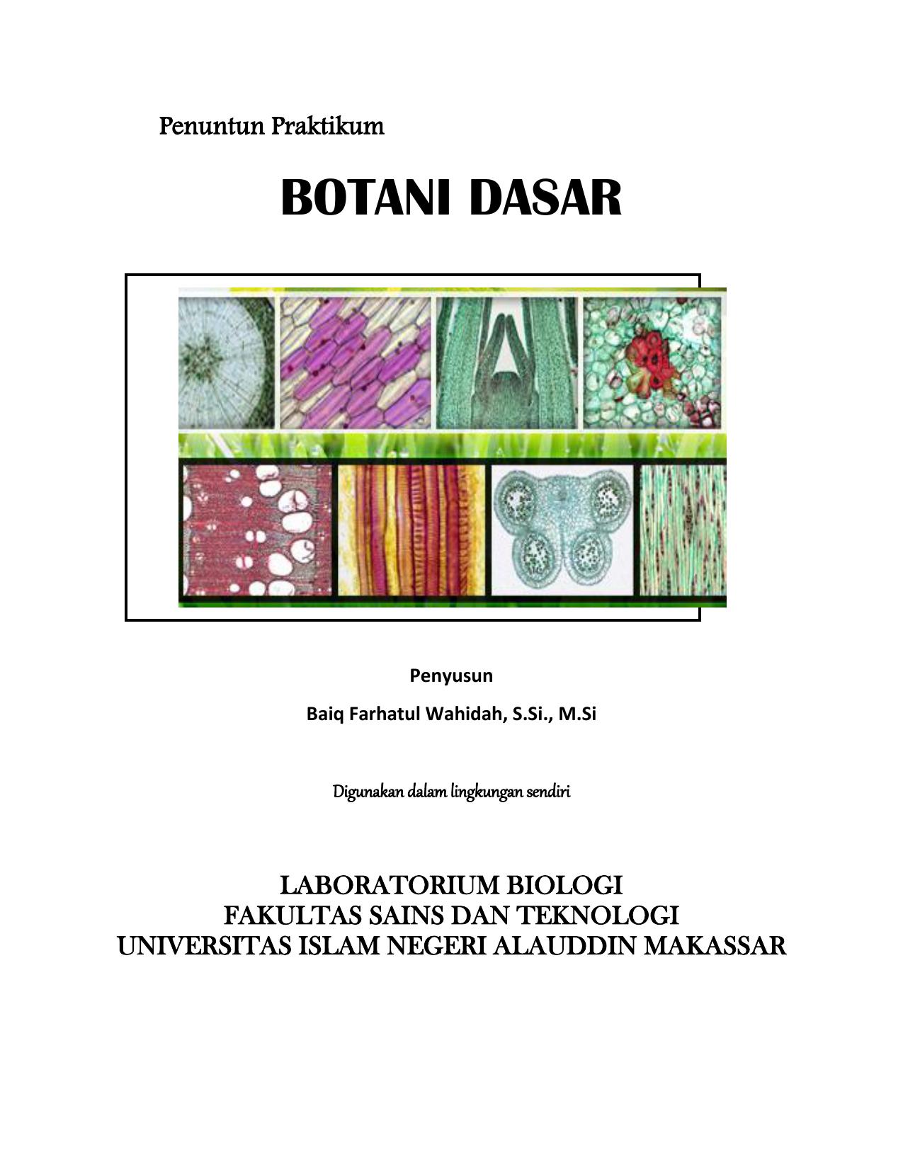 Botani dasar biologi uin alauddin makassar ccuart Gallery