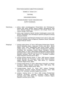 Contoh surat lamaran - Pemerintah Kabupaten Kuningan