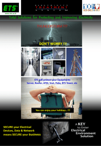 don`t worry - ETS - Electricity Treatment System