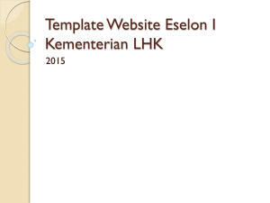 Template Website Eselon I Kementerian LHK - ITJEN