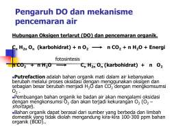 Pengaruh DO dan mekanisme pencemaran air