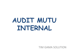 audit mutu internal