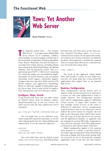 Yaws: Yet Another Web Server - Steve Vinoski`s Blog