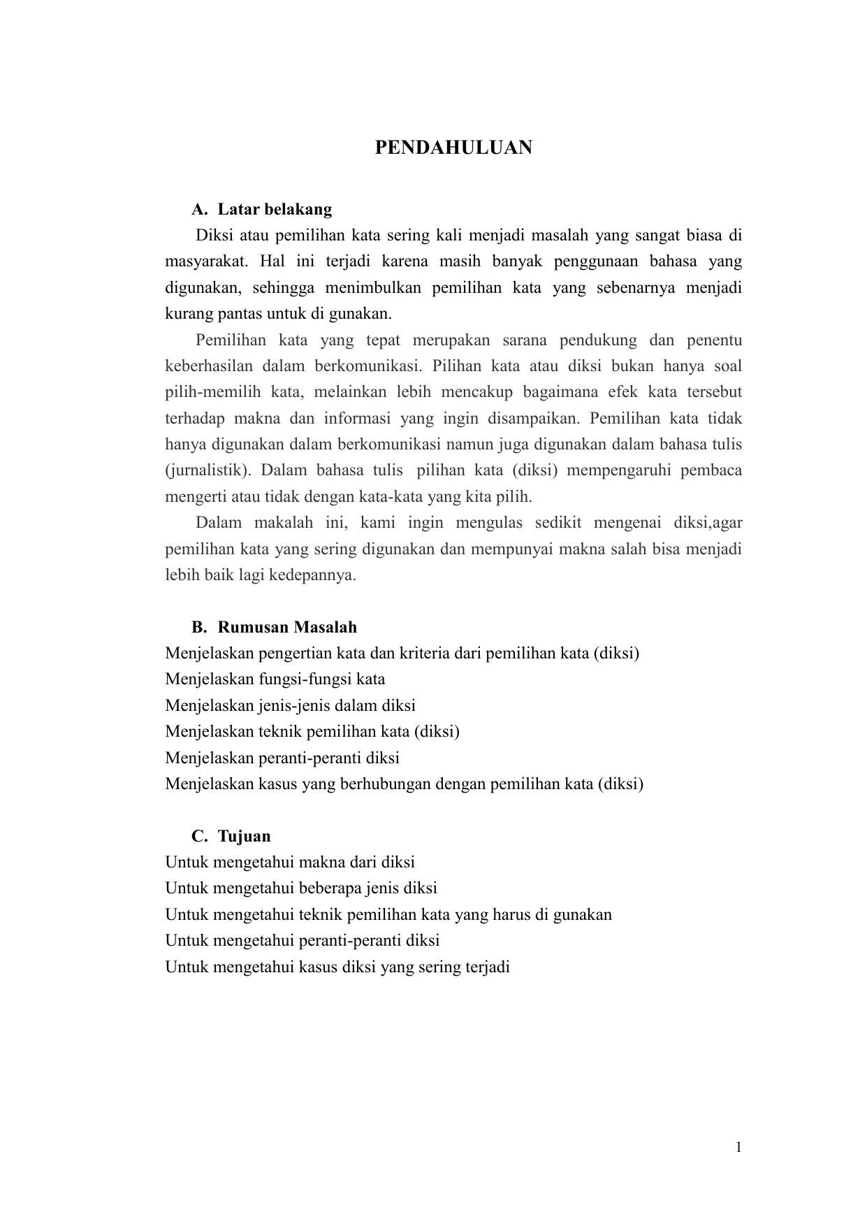Makalah Bahasa Indoonesia Diksi