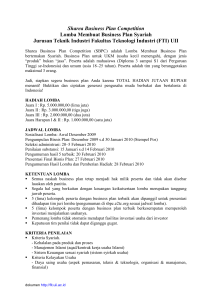 Sharea Business Plan Competition | Lomba Membuat