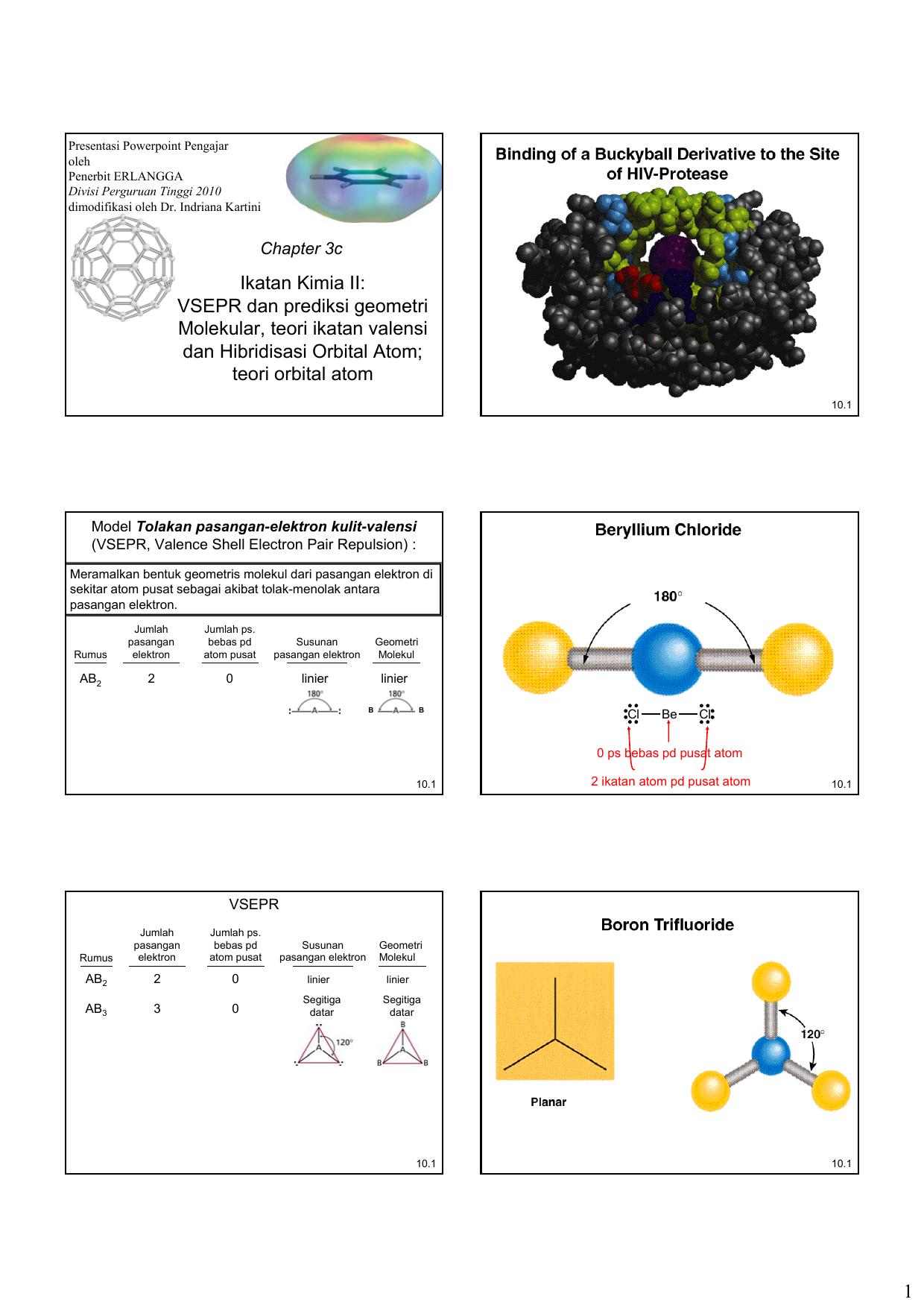 Vsepr Dan Prediksi Geometri Molekular Teori Ikatan