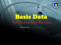 Apa itu Sistem Basis Data