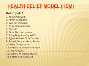 HEALTH BELIEF MODEL (HBM) Kelompok 1