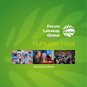 Rumusan Hasil - Global Landscapes Forum