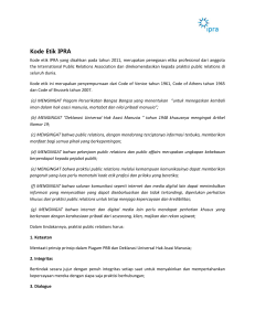 IPRA Code of Conduct - International Public Relations Association